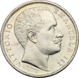 obverse: Vittorio Emanuele III (1900-1943). 2 lire 1904