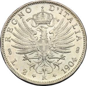 reverse: Vittorio Emanuele III (1900-1943). 2 lire 1904