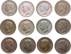 obverse: Vittorio Emanuele III (1900-1943). Lotto di 19 monete da 10 centesimi 1919-1937