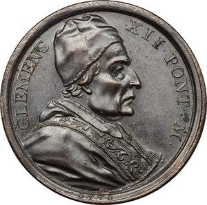 Clemente XII (1730-1740), Lorenzo Corsini. Medaglia annuale A. II, per il porto franco ad Ancona