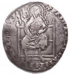 D/ Zecche Italiane - Firenze.Repubblica (Sec. XIII-1532).Grosso guelfo da 5 soldi e denari 6. Simbolo Compasso.AG.g. 2.60Raro qBB.