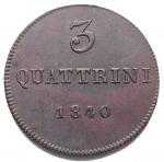 D/ Zecche Italiane.Firenze.Leopoldo II (1824-1859).3 quattrini 1840.Pag. 188.R.MI.SPL/FDC.