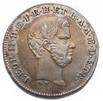 D/ Zecche Italiane.Firenze.Leopoldo II di Lorena (1824-1859).Mezzo paolo 1857.Pag. 160. Mont. 368.AG.SPL-FDC.R.Ottimo esemplare