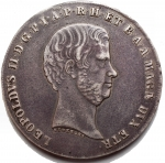 D/ Zecche Italiane.Firenze.Leopoldo II (1824-1859).Francescone 1858.Pag. 118. Mont. 331.AG.BB-qSPL. Patina