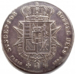 R/ Zecche Italiane.Firenze.Leopoldo II (1824-1859).Francescone 1858.Pag. 118. Mont. 331.AG.BB-qSPL. Patina