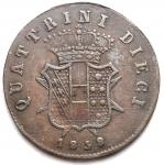 R/ Zecche Italiane - Firenze. Leopoldo II (1824-1859) 10 quattrini 1858.AG, 1.63gr. Pag. 167.Bel BB+