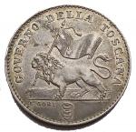 D/ Zecche Italiane - Firenze. Governo Provvisorio. 1 FIORINO 1859 Ag. SPL. Buona conservazione. Intonso con bella patina