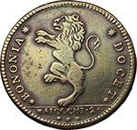 D/ Zecche Italiane - Bologna.Pio VI (1775-1779).2 baiocchi 1796, Bologna.CNI 338. Munt 248.AE.g. 20.60mm. 37.00BB/Bel BB.