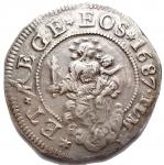 D/ Zecche Italiane - Genova.Dogi Biennali (1528-1797).Scudo stretto 1687, sigle I.L.M.MIR 294/48. CNI 5-15.AG.g. 38.1mm. 42,4.Buon BB+