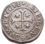 R/ Zecche Italiane - Genova.Dogi Biennali (1528-1797).Scudo stretto 1687, sigle I.L.M.MIR 294/48. CNI 5-15.AG.g. 38.1mm. 42,4.Buon BB+