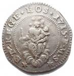 D/  Zecche italiane - Genova. Repubblica. Periodo dei Dogi biennali 1528-1797. Terza fase 1637 - 1797. 1/2 Scudo Ag 1715. BB+. Raro