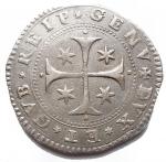 R/  Zecche italiane - Genova. Repubblica. Periodo dei Dogi biennali 1528-1797. Terza fase 1637 - 1797. 1/2 Scudo Ag 1715. BB+. Raro