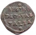 R/ Zecche Italiane - Guastalla.Ferrante III Gonzaga (1632-1678).Sesino.D/ SESINO DI GVASTALLA.R/ S CATARINA PROTECTRIX. Santa Caterina stante al centro.gr 1,06. mm 16,6.CNI 48/56. MIR 424.AE.BB++. Buon esemplare