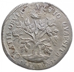 R/ Zecche Italiane. LIVORNO Cosimo III (1670-1723) Pezza della rosa 1684 - CNI 23; MIR 66/2 AG (g 25,28) RR Millesimo molto raro. BB-SPL. Patina e sedimenti