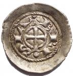 D/ Zecche Italiane.Brescia.Comune (1186-1250).Denaro scodellato.MIR 108.AG.Migliore diSPL