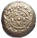 R/ Zecche Italiane.Brescia.Comune (1186-1250).Denaro scodellato.MIR 108.AG.Migliore diSPL