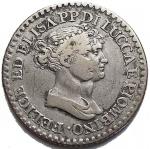 D/ Zecche Italiane -Lucca e Piombino.Elisa Bonaparte e Felice Baciocchi (1805-1814).1 franco 1807.MIR 245/3.AG. qBB-BB