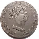 D/ Zecche Italiane -Lucca e Piombino.Elisa Bonaparte e Felice Baciocchi (1805-1814).5 franchi 1807.CNI 10.AG.g. 24,65. BB+/BB