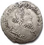 D/ Zecche Italiane.Massa di Lunigiana.Alberico I Cybo Malaspina (1568-1623).Cervia 1618.CNI XI 194/200.BB+.RR. Bellissimo esemplare. Ex Kunker