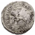 R/ Zecche Italiane.Massa di Lunigiana.Alberico I Cybo Malaspina (1568-1623).Cervia 1618.CNI XI 194/200.BB+.RR. Bellissimo esemplare. Ex Kunker