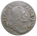 D/ Zecche Italiane - Massa di Lunigiana.Alberico II Cybo Malaspina Duca (1664-1690).Luigino 1665.MIR 323/2. Camm. 227.Ag.g. 2.19. qBB-BB