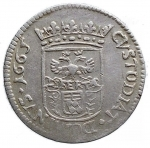 R/ Zecche Italiane - Massa di Lunigiana.Alberico II Cybo Malaspina Duca (1664-1690).Luigino 1665.MIR 323/2. Camm. 227.Ag.g. 2.19. qBB-BB