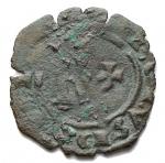 D/ Zecche Italiane - Messina.Carlo I d'Angiò (1266-1282).Denaro con K e croce.SP 49 (Messina) MIR 354.MI.g. 0.46RRR.qBB.