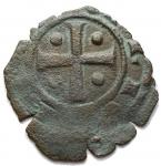R/ Zecche Italiane - Messina.Carlo I d'Angiò (1266-1282).Denaro con K e croce.SP 49 (Messina) MIR 354.MI.g. 0.46RRR.qBB.