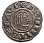 D/ Zecche Italiane - Brindisi. Federico II. 1197-1250.Denaro 1244. MI. Testa nuda a destra e aquila. Sp. 128. Peso gr 0,69. BB++