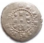 R/ Zecche Italiane.Milano.Federico I di Svevia (1151-1190).Denaro scodellato.Murari 16-17.AG.gr 0,89. mm 17,4 x 17,7.BB-qSPL/BB+