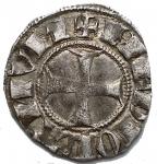R/ Zecche Italiane - Galeazzo e Barnabo' Visconti 1355-78.Sesino o mezzo soldo,Milano, AR, (g 1,04). d/ + B G VICECOMES r/ + MEDIOLANUM. Biaggi 1458 , Crippa 5 / A . BB+ Patina