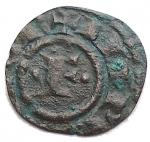 D/ Zecche Italiane - Brindisi o Messina.Gli Svevi (1194-1268), Federico II (Re di Sicilia, 1198-1250; Re di Germania, 1212-1220; Imperatore, 1220-1250), Quarto di Denaro, 1220-1250; BI (g 0,16; mm 10,2); + IMPERATOR, nel campo, F tra due globetti, Rv. R SI CI LI, croce potenziata. Spahr 111; MEC XIV, 543; Travaini 24a. qBB. Molto raro