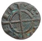 R/ Zecche Italiane - Brindisi o Messina.Gli Svevi (1194-1268), Federico II (Re di Sicilia, 1198-1250; Re di Germania, 1212-1220; Imperatore, 1220-1250), Quarto di Denaro, 1220-1250; BI (g 0,16; mm 10,2); + IMPERATOR, nel campo, F tra due globetti, Rv. R SI CI LI, croce potenziata. Spahr 111; MEC XIV, 543; Travaini 24a. qBB. Molto raro