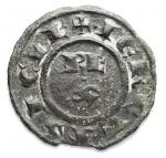 D/ Zecche Italiane - Brindisi. Corrado I 1250-1254. Mezzo Denaro. d/ RE/X. gr 0,33. mm 13,2. Guglielmi 251. BB. Intonso. RR
