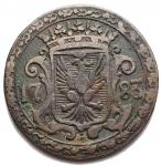 D/ Zecche Italiane - Modena. Ercole III d'Este. 1780-1796. 1 Bolognino 1783.MIR 861. Peso 2,2 gr. Diametro 21,3 mm.BB.