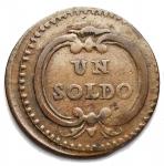 D/ Zecche Italiane - Modena. Ercole III. Un soldo 1783. BB++. Patina cuoio