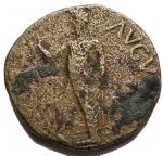 R/ Barbariche - Claudio I. Grande bronzo di zecca incerta. gr 17,5. mm 32,1. qBB.