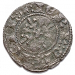 R/ Zecche Italiane - Napoli. Carlo II d'Angiò (1285-1309) Denaro regale.D/ Busto frontale. R/ Croce gigliata. MI. gr 0.72. mm 18,1.P.R.4.BB+