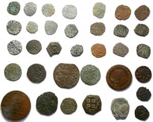 D/ Lotti - Zecche Italiane. Insieme di 34 pezzi in Ae,Mi.