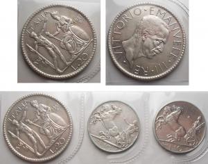 D/ Lotti - Vittorio Emanuele III. 20 lire Littore 1927, 10 Lire 1927*, 10 Lire 1927**. Lotto di 3 esemplari in Ag. Il 20 lire è qSPL