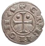 R/ Zecche Italiane -Cremona.Comune. 1155-1330.Inforziato.MI.MIR 294.Pesogr. 0,60. Diametro mm. 16,6.Migliore diSPL.