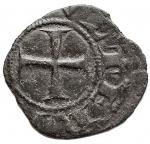 R/ Zecche Italiane - Berignone. Ranieri III Belforti vescovo (1301-1321). Denaro piccolo MI gr. 0,39. CNI 12/13. BB+ Patina verde. Molto Raro