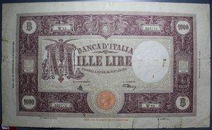 reverse: LUOGOTENENZA 1000 LIRE 30/11/1944 GRANDE M RRR MB-BB (STRAPPETTI,FORI)