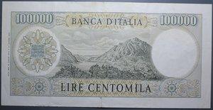 obverse: REPUBBLICA ITALIANA 100000 LIRE 19/7/1970 MANZONI R qSPL