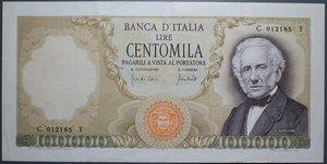 reverse: REPUBBLICA ITALIANA 100000 LIRE 19/7/1970 MANZONI R qSPL