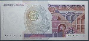 obverse: REPUBBLICA ITALIANA 100000 LIRE 10/5/1982 PRIMAVERA BOTTICELLI SPL+