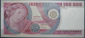 reverse: REPUBBLICA ITALIANA 100000 LIRE 10/5/1982 PRIMAVERA BOTTICELLI SPL+