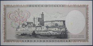 obverse: REPUBBLICA ITALIANA 50000 LIRE 16/5/1972 LEONARDO DA VINCI R SPL