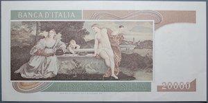 obverse: REPUBBLICA ITALIANA 20000 LIRE 21/2/1975 TIZIANO R qSPL