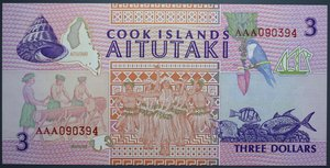 D/ COOK ISLANDS 3 DOLLARS 1992 FDS